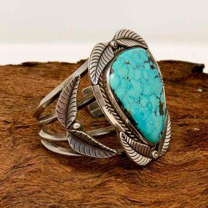 Vintage Navajo Turquoise Bracelet 1960s